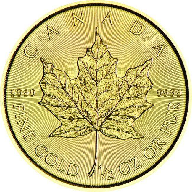 Maple Leaf 1/2 Unze Gold 2015, 9999/10000 Gold
