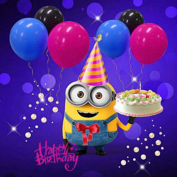 Миньоны с днем рождения настя картинки