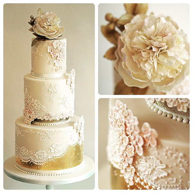 Cake Decorating Gold Leaf : 17 Best images about Gold Leaf Cake on Pinterest Sugar ...
