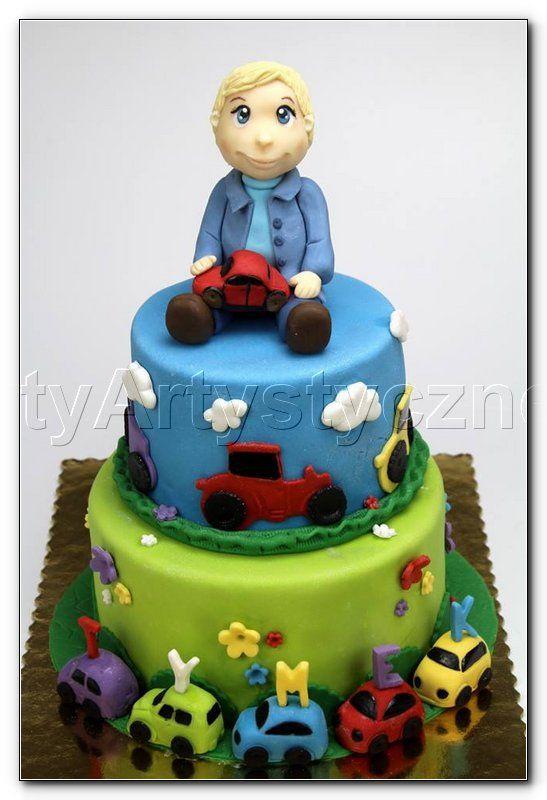 Tort na Roczek dla chłopczyka