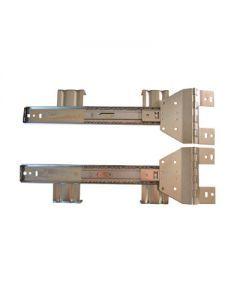 KV 8050 UP and Under Inset Flipper Door Slides for appliance cabinet.