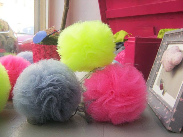 tuto pompons tulle France Duval Stalla