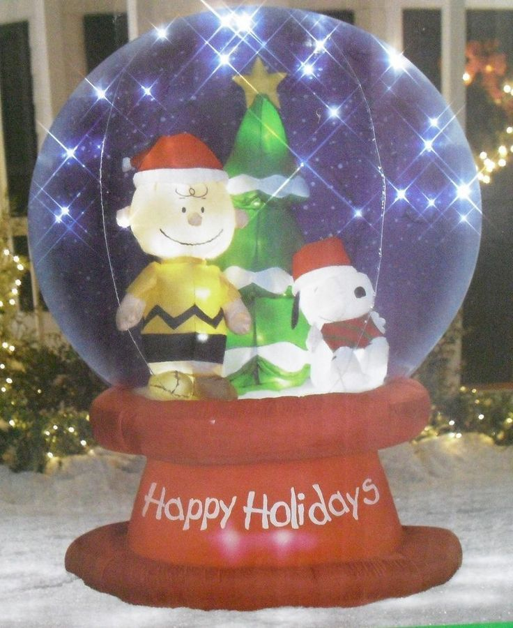 51 best snoopy peanuts ebay images on pinterest for Outdoor christmas globes