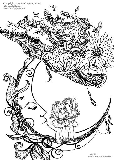 Best 292 Sun and THE moon images on Pinterest | Libros para colorear ...