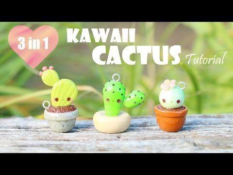 Tuto Fimo Cactus kawaii