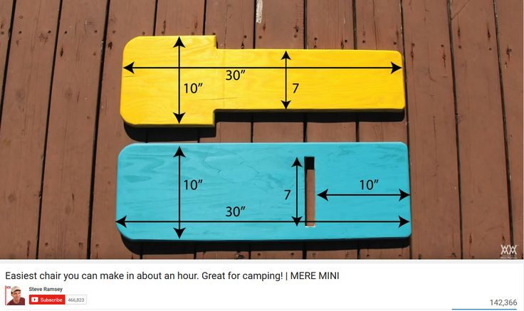 """Steve Ramsey Viking Chair dimensions. Start with 1/2"""" plywood laminated to make 1"""" boards."""
