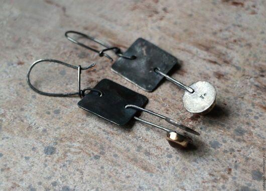 Серьги ручной работы. SAHARA серьги (турмалин, гранат, серебро, золото). ТАТОША. Ярмарка Мастеров. Зеленые серьги, зеленый турмалин