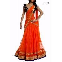 Indian Beauty Orange saree
