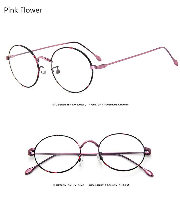 2017 Students Men/Women Retro Round Metal Eyeglasses Wind High Quality Fashion  Frames Myopia Glasses Frame Optical Eyewear Like and share! Visit our store