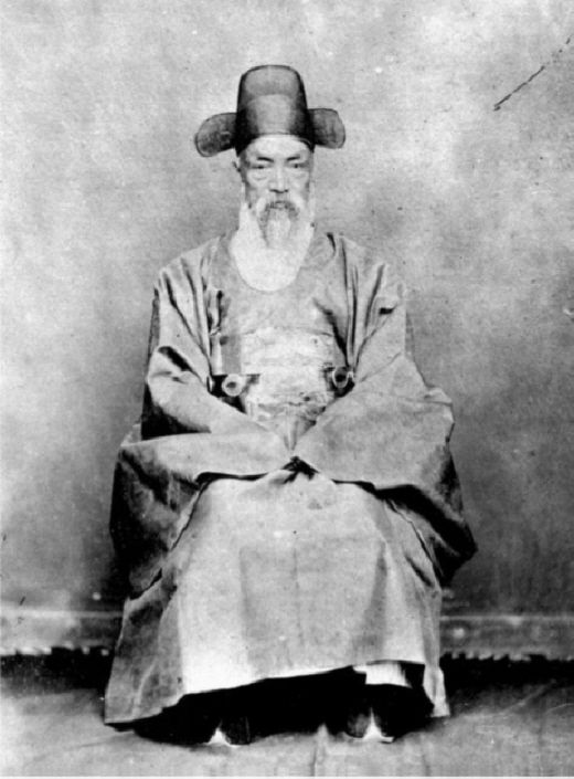 Old korea Naval officer who made a treaty with U.S. in Chemulpo in 1882