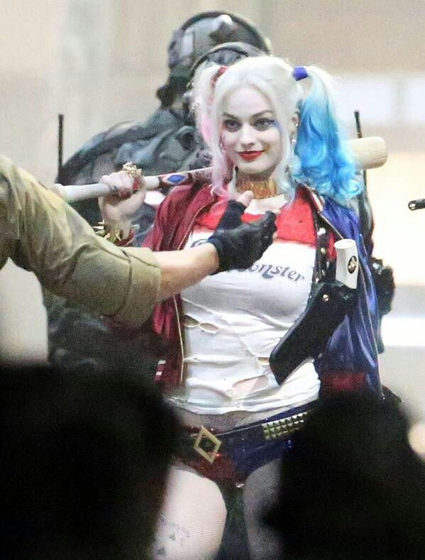 Margot Robbie as the new Harley Quinn in the upcoming suicide squad movie