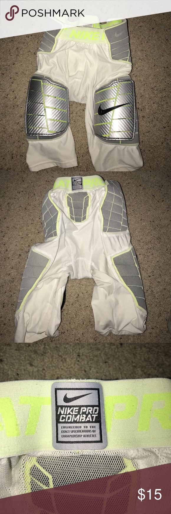 Nike Pro Combat Football Girdle Size: L Football girdle. Fits comfortably and protects well. Worn at practice for half of a season. I have two that are larges Nike Other
