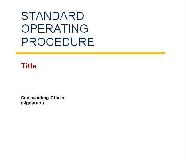 Gallery Dod Standard Operating Procedures Template, - Coloring Page