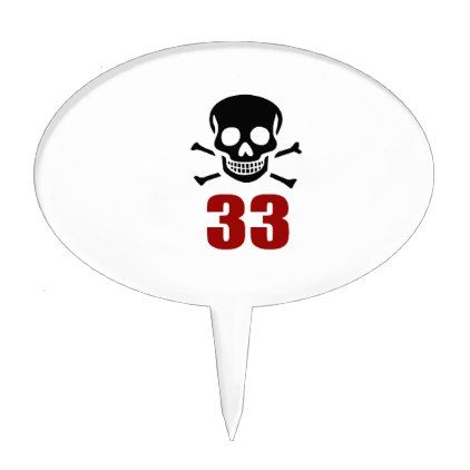 #33 Birthday Designs Cake Topper - #giftidea #gift #present #idea #number #33 #thirty-third #thirty #thirtythird #bday #birthday #33rdbirthday #party #anniversary #33rd