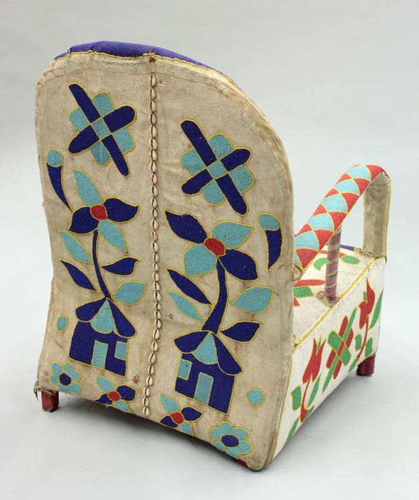 6088: Beaded Chair, Yoruba Tribe, Nigeria : Lot 6088