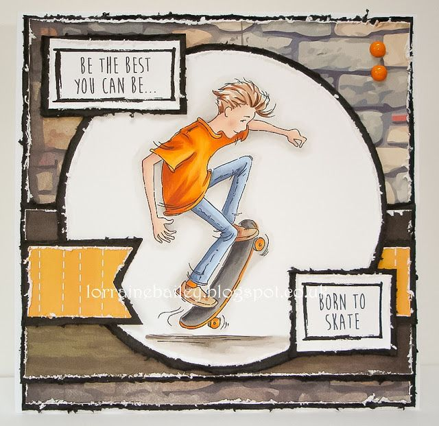 LOTV - Oliver Skateboard with Set 101 Teenage Boy Sentiments by Lorraine Bailey