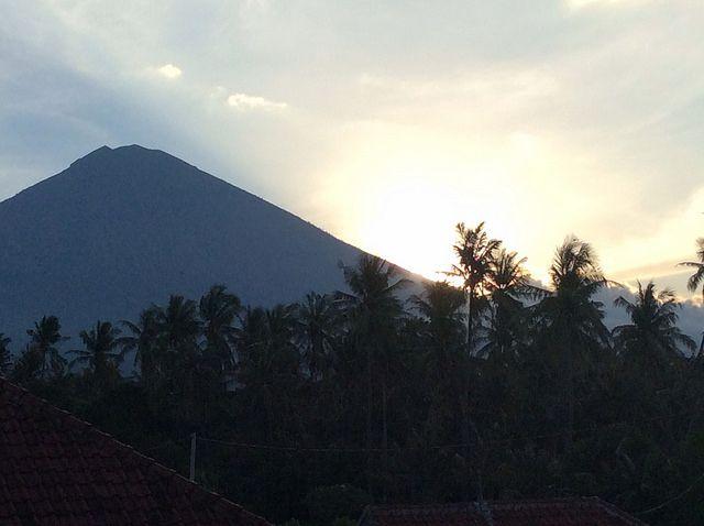 Sunset Mount Agung! Nyepi view from Villa Sinar Cinta Amed Bali