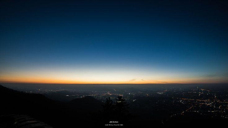 남한산성에서본 여명