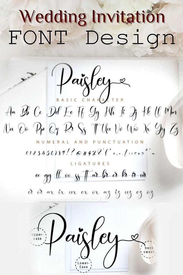 Paisley Script Font By Nissastudio Creative Fabrica Wedding Fonts Fonts Design Graphics Diy