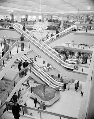 """Sydneysiders were immediately smitten with their gargantuan ROSELANDS CENTRE, which outdid everything that had come before it. Developed and anchored by Sydney-based Grace Brothers, the 15 million dollar merchandising mecca housed over eighty stores and services. Its slogan...""""A meeting place, A market place!"""". Photo from National Archive of Australia / Image number: A1200, L52829"""