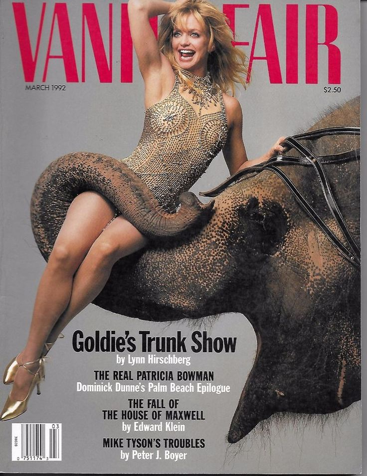Vanity Fair magazine Goldie Hawn Patricia Bowman House of Maxwell Mike Tyson
