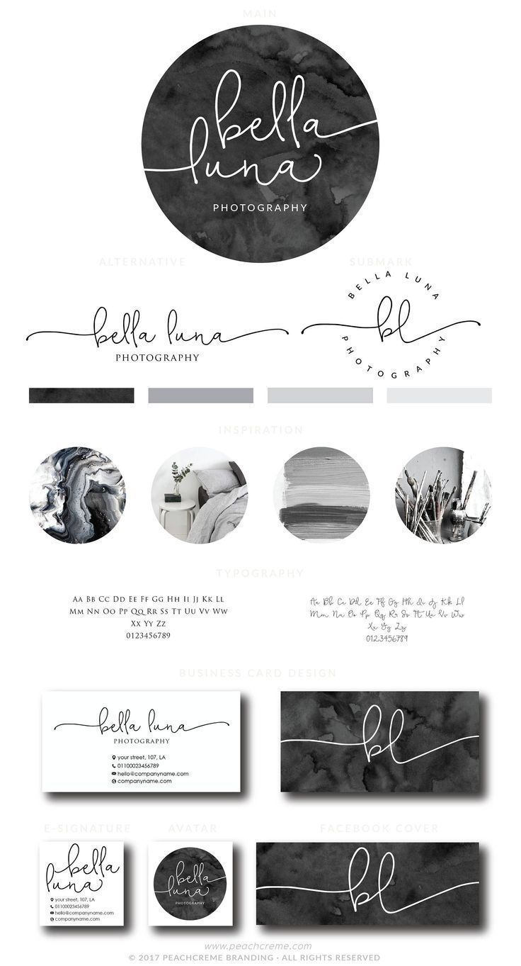Bella Luna Kit Circle Logo Design Photography Logo Design