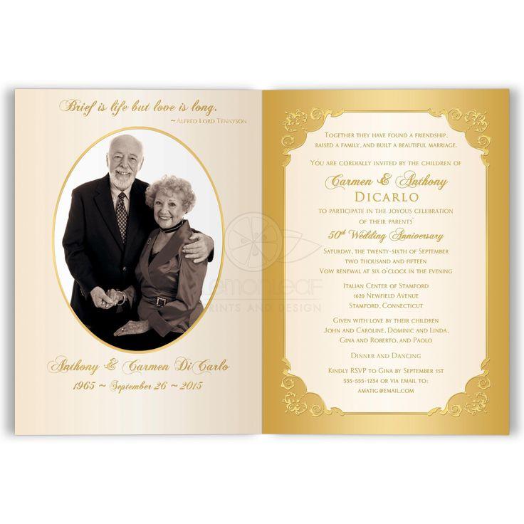 The 7 best Anniversaries images on Pinterest | Golden wedding ...