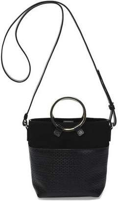 4fb2ed72602d Halston Heritage Suede And Woven Leather Bucket Bag  handbags ...