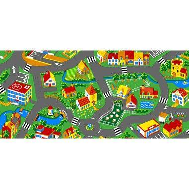 """Tapijt Little Village  Welkom in ons dorp! Pak je auto en tour door het gezellige dorpje van dit speelkleed! Op dit tapijt met een rustgevende omgeving kun jij uren spelen. Er is genoeg te beleven. Wacht niet langer en ga op avontuur in de """"Little Village"""".  EUR 22.99  Meer informatie"""