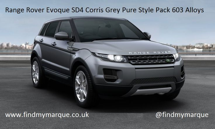 Range Rover Evoque Pure Tech Corris Grey Style Pack 603 Alloys Privacy