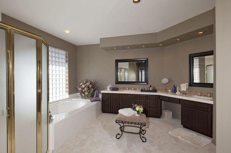 Contemporary Master Bathroom With Daltile Cannes Crema