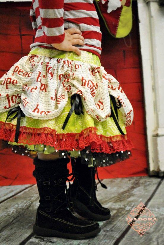 Christmas...how cute!: Little Girls, Holidays Outfits, Girls Skirts, Christmas Outfits, Girls Christmas, Christmas Skirts, Holidays Clothing, Cute Skirts, Kid