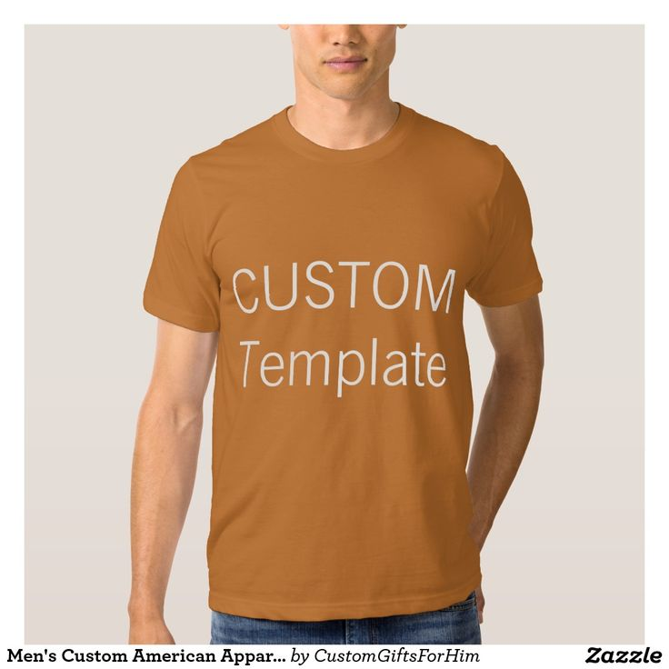 Men's Custom American Apparel T-Shirt CAMEL BROWN