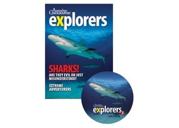 The Australian Geographic Explorers! Sharks! issue comes with a 36 page magazine and an interactive whiteboard, filled with complete lesson plans related to the topics in the magazine.