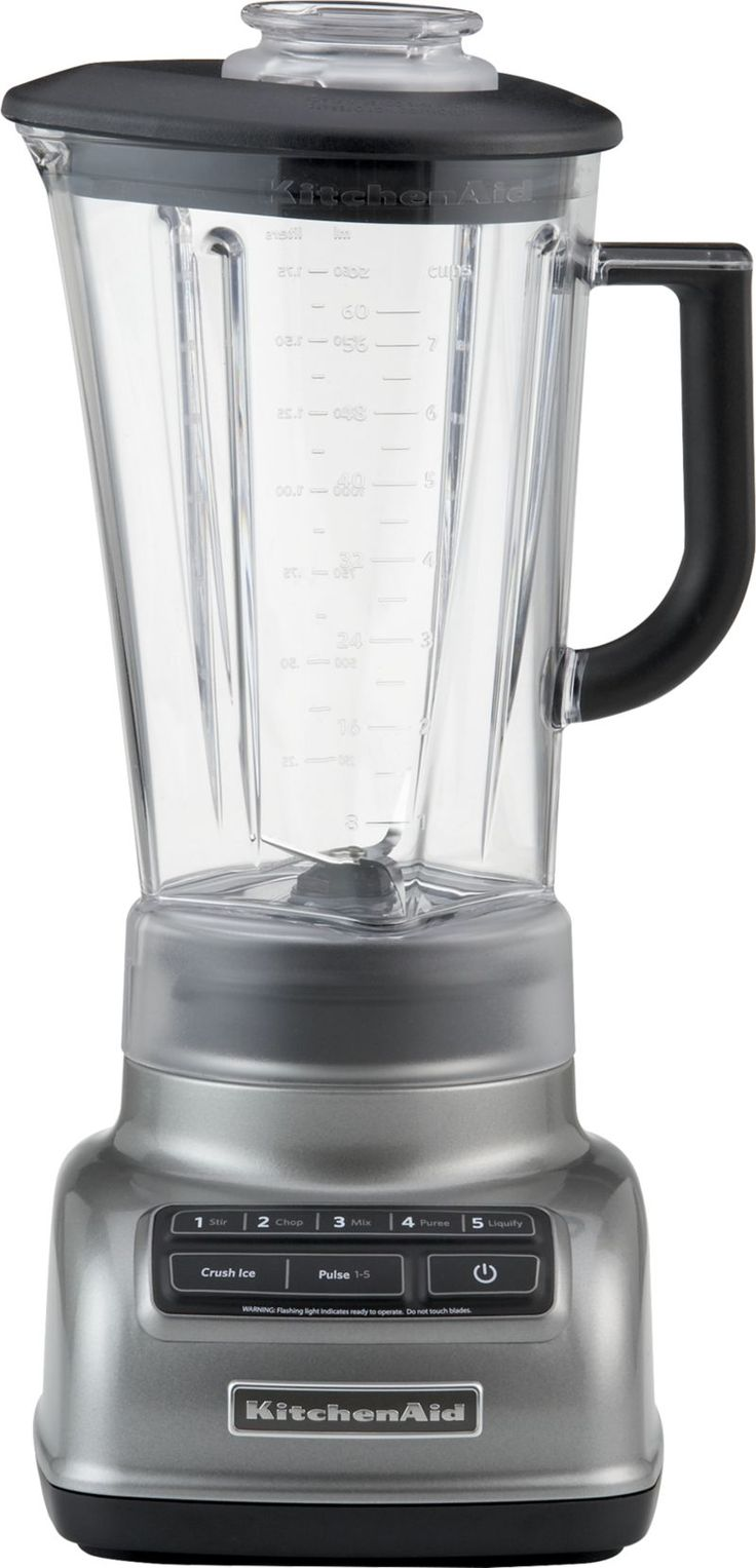 KitchenAid® 5-Speed Contour Silver Diamond Vortex Blender  | Crate and Barrel
