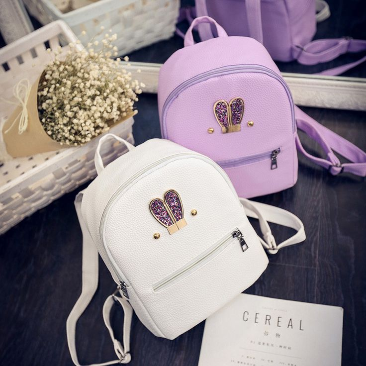 $18.79 (Buy here: https://alitems.com/g/1e8d114494ebda23ff8b16525dc3e8/?i=5&ulp=https%3A%2F%2Fwww.aliexpress.com%2Fitem%2FCandy-Color-2016-Cute-Large-Rabbit-Ear-Women-Backpack-White-PU-Leather-Backpack-Women-Bag-Mini%2F32710998827.html ) Candy Color 2016 Cute Large Rabbit Ear Women Backpack White PU Leather Backpack Women Bag Mini School Bag  Pink Purple#B0808-1 for just $18.79