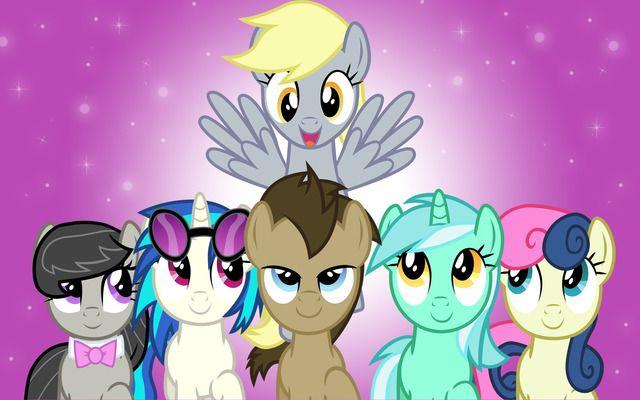 "My Little Pony Friendship Is Magic - Derpy, Octavia, Vinyl Scratch, Doctor Hooves, Lyra and Bon Bon ""Background Ponies"""