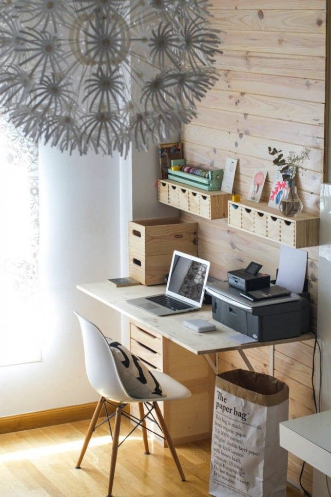 Divine home ikea workspace Impeccable If You Live In Studio Or Your Bedroom Doubles As Your Home Office Differentiate The Space With Diy Wood Backboard To Make From Brit Co Pinterest Pinterest If You Live In Studio Or Your Bedroom Doubles As Your Home Office