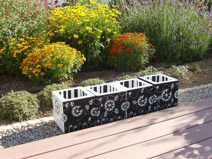 12 best Jardinières en béton images on Pinterest Cubes, Cement and - peinture terrasse beton exterieur