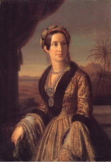 Queen Amalia of Greece:  Amalia of Oldenburg - Queen consort of Greece as the spouse of King Otto of Greece. On becoming politically involved she became the target of attacks and even an assassination attempt. In 1862 she and her husband were expelled from Greece.