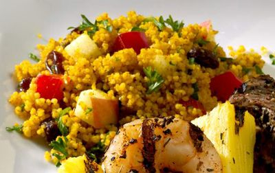 Coucous is a fine accompaniment to kebabs. [Credit: ©T.J. Hine Photography]
