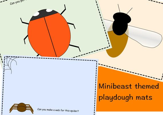 Minibeast themed playdough mats, in 6 different designs. Playdough mats are a fantastic learning tool, encouraging creativity and fine motor