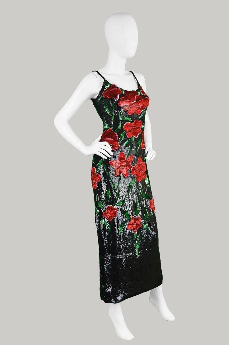 Renato Balestra Couture Beaded & Embroidered Evening Gown, 1990s.   1stdibs.com