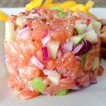 Tartare saumon pomme verte – La p'tite fourchette