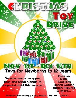 Christmas Toy Drive Flyer Template 3