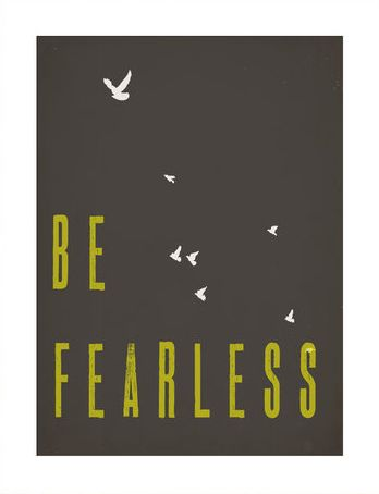 Be Fearless print for LIFT campaign