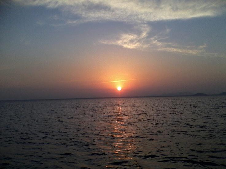 Por do sol, Ilhas dos tamboretes - Brazil, pescaria em alto mar 11/08/12 :)
