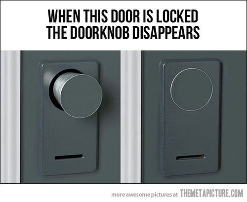 good idea! - but I am trying to think of the difficulties that may appear with a doorknob like this...