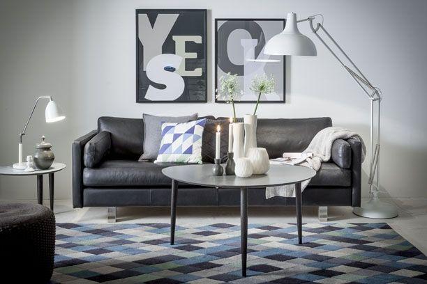 Stue i moderne mønstre. se mere på http://www.madogbolig.dk ...