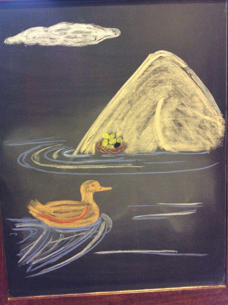 Kalevala- duck nesting on Ilmatar's knee
